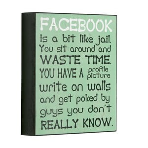 Tablica Facebook is a bit like, 25x21 cm