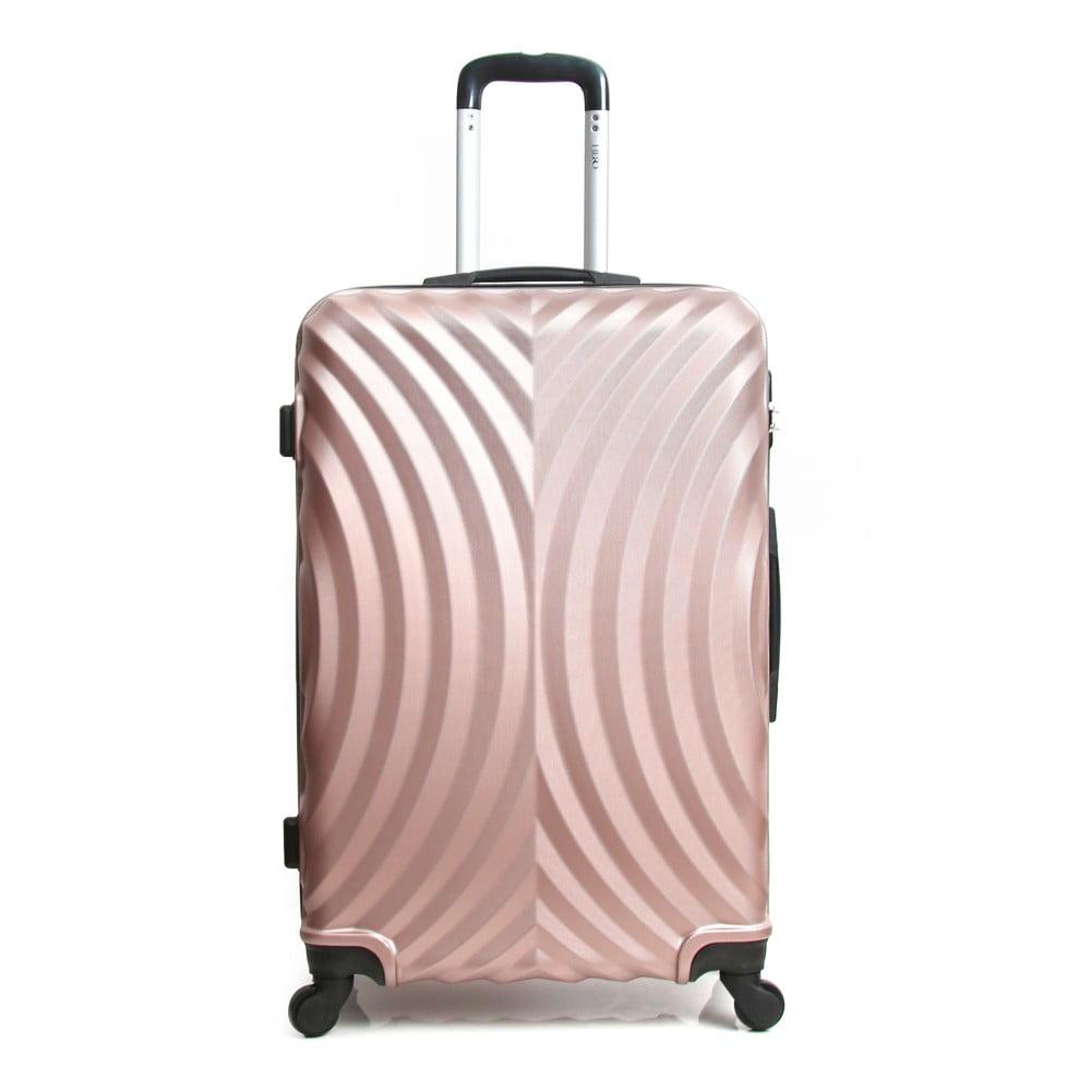 19b5cfc8379ec Różowa walizka na kółkach Hero Lagos, 31 l | Bonami