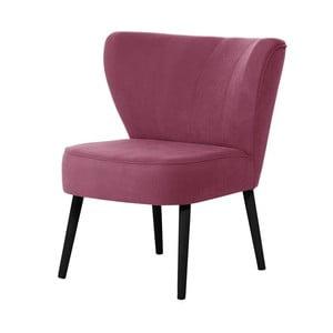 Fuksjowy fotel z czarnymi nogami My Pop Design Hamilton