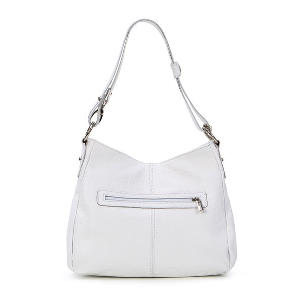 Skórzana torebka Stefano, biała