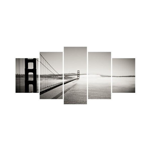 Wieloczęściowy obraz Black&White no. 20, 100x50 cm