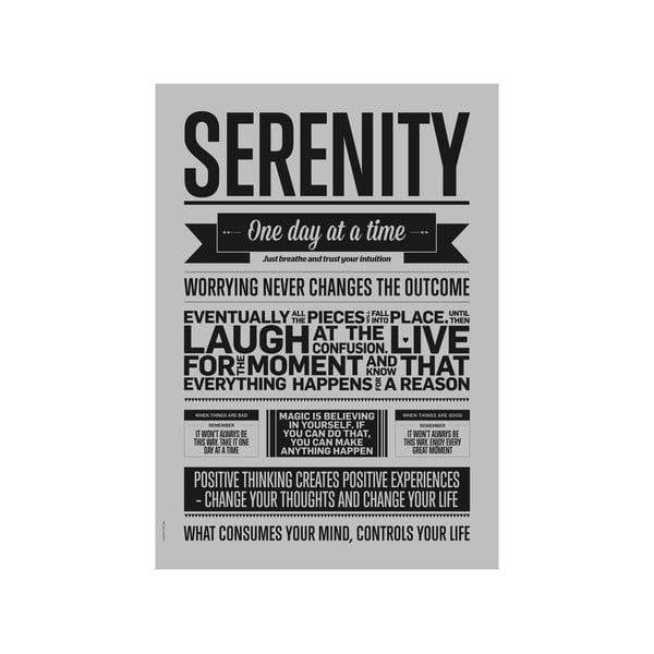 Plakat autorski Serenity Grey, A3