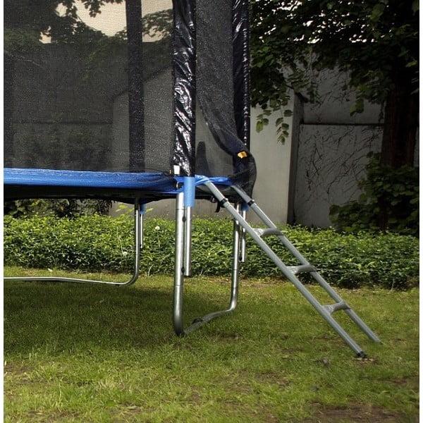 Trampolina z siatką ochronną i drabinką, 305 cm