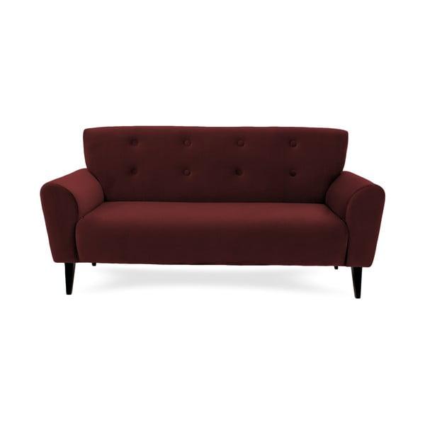 Bordowa sofa trzyosobowa Vivonita Klara