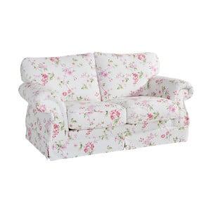 Różowo-biała sofa dwuosobowa w kwiaty Max Winzer Mina