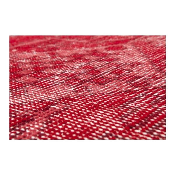 Czerwony dywan wełniany ręcznie wiązany Linie Design Sentimental,200x300cm