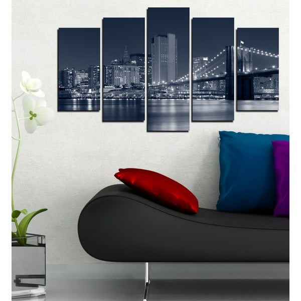 5-częściowy obraz Brookliński most