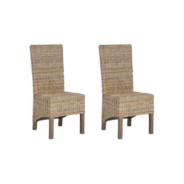 Zestaw 2 krzeseł rattanowych Safavieh Pembroke