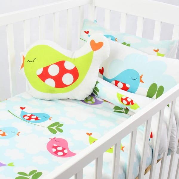 Bawełniana pościel dziecięca z poszewką na poduszkę Mr. Fox Little Birds 115x145 cm
