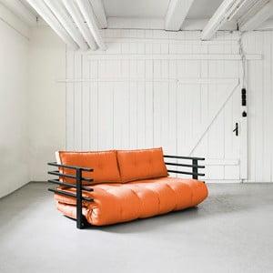 Sofa rozkładana dwuosobowa Karup Funk Black/Orange