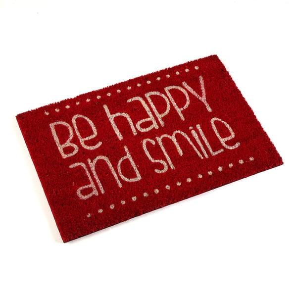Wycieraczka Be Happy Red
