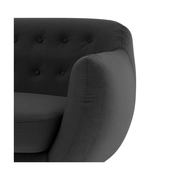 Grafitowa   sofa dwuosobowa Wintech Indigo Ornoco