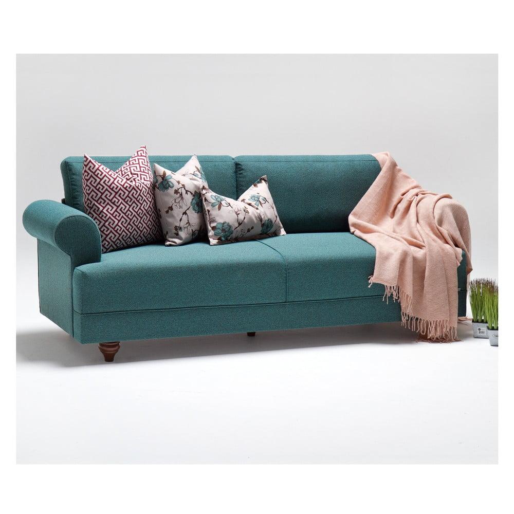 Turkusowa sofa Balcab Home Karin