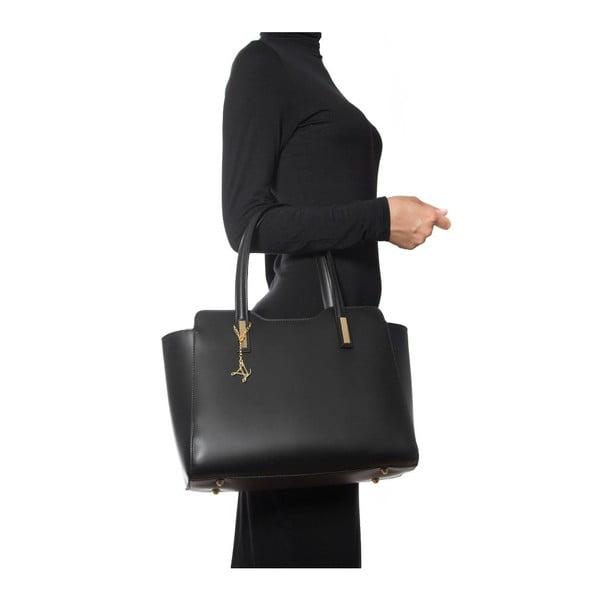 Skórzana torebka Luisa Vannini 3007 Nero