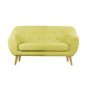 Żółta sofa dwuosobowa Helga Interiors Oslo