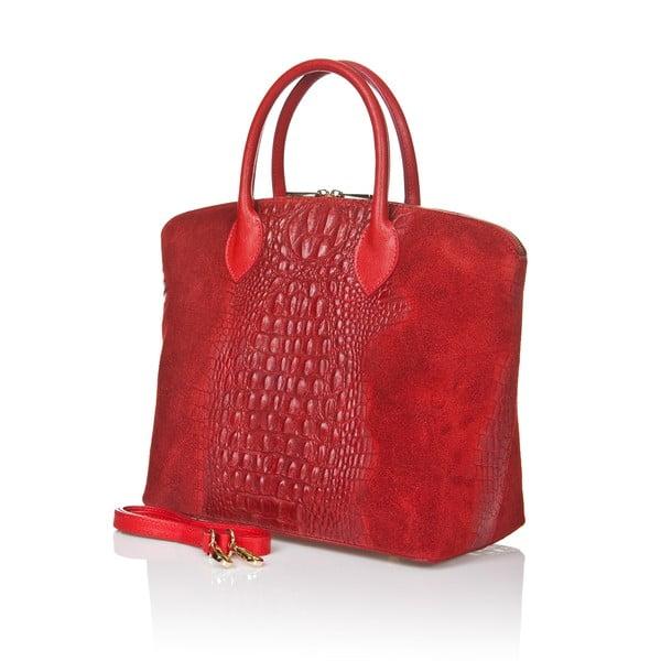 Czerwona torebka zamszowa Giorgio Costa Candance