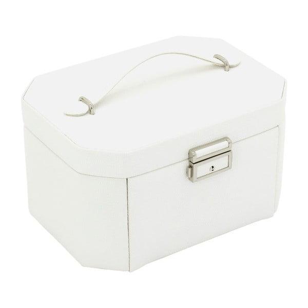 Szkatułka na biżuterię Candy White, 20,5x15x11,5 cm