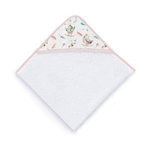 Dziecięcy ręcznik kąpielowy z kapturem Tanuki Bird Explorer, 100x100 cm