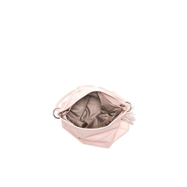 Skórzana torebka Anna Luchini 71 Rosa