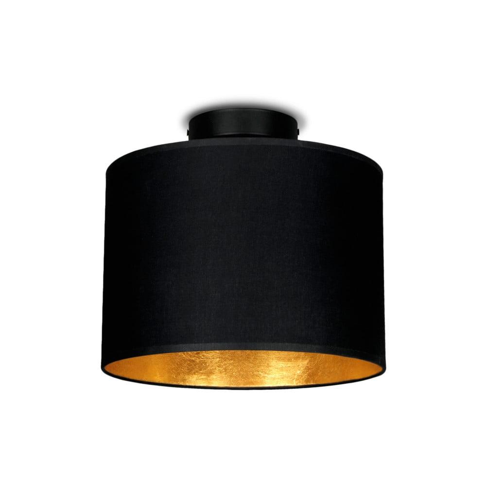 Czarna lampa sufitowa z elementami w kolorze złota Sotto Luce MIKA, Ø 25 cm
