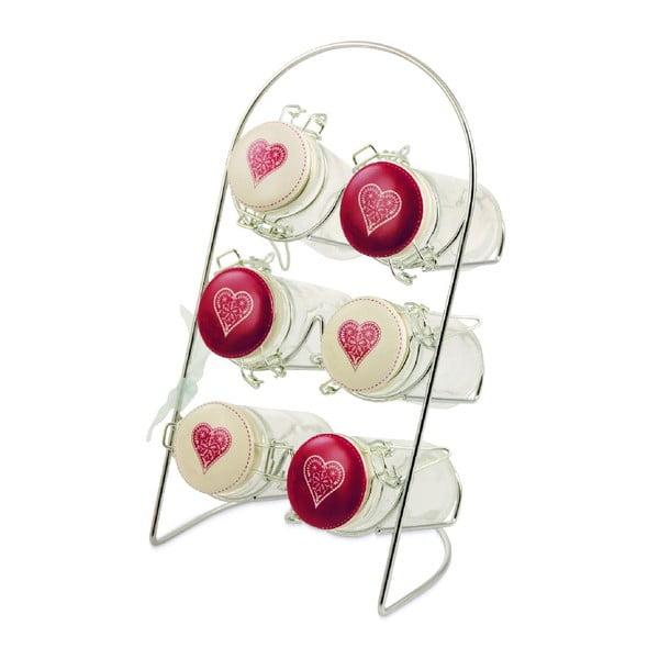 Zestaw na przyprawy Red Heart, 6 sztuk