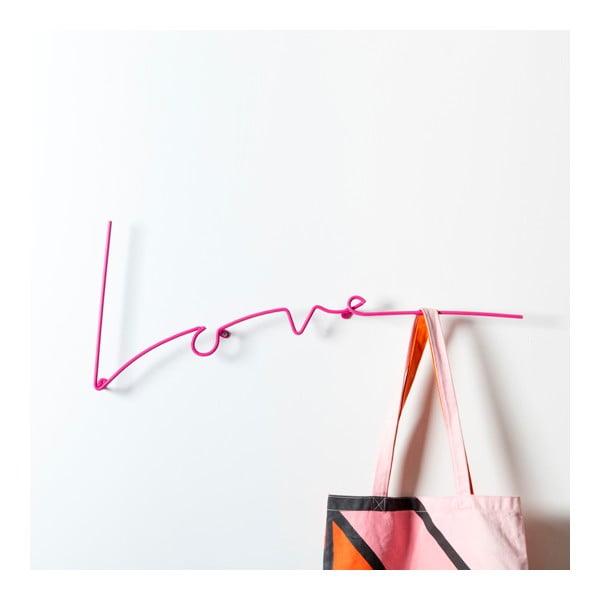 Wieszak Love Coat, różowy