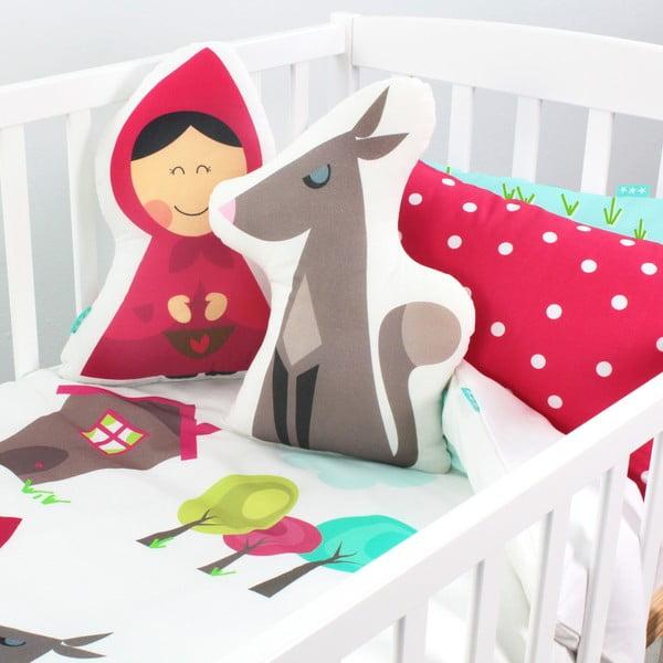 Bawełniana pościel dziecięca z poszewką na poduszkę Mr. Fox Grandma, 115x145 cm