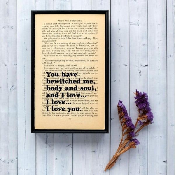 Plakat w   drewnianej ramie Pride and Prejudice Bewitched