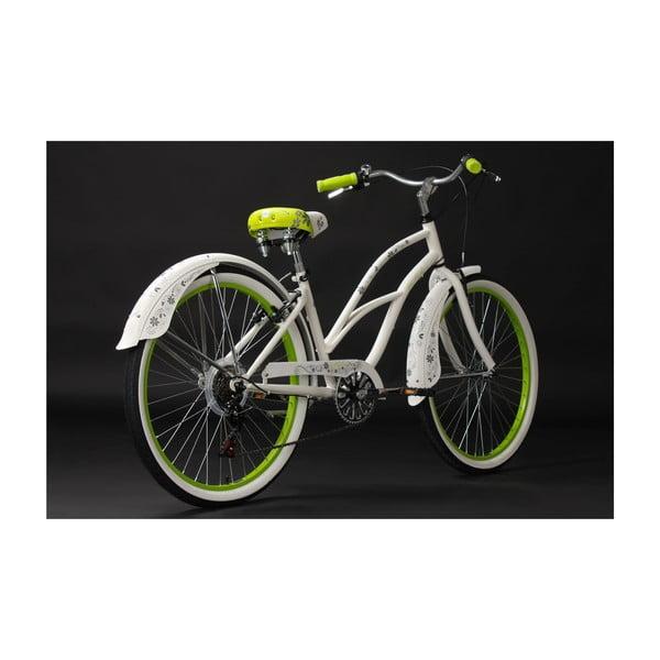 "Rower Beachcruiser Bellefleur Bike White, 28"""