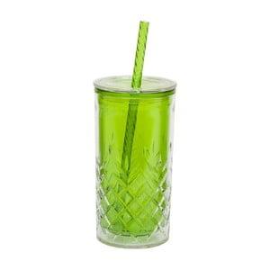 Kubek ze słomką Cup 470 ml, zielony
