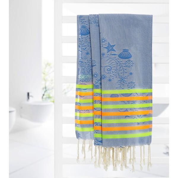 Ręcznik hammam Undersea, niebieski