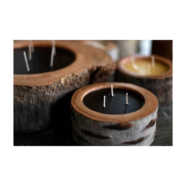 Palmowa świeczka Legno Dark o zapachu wanilii i paczuli, 320 godzin palenia