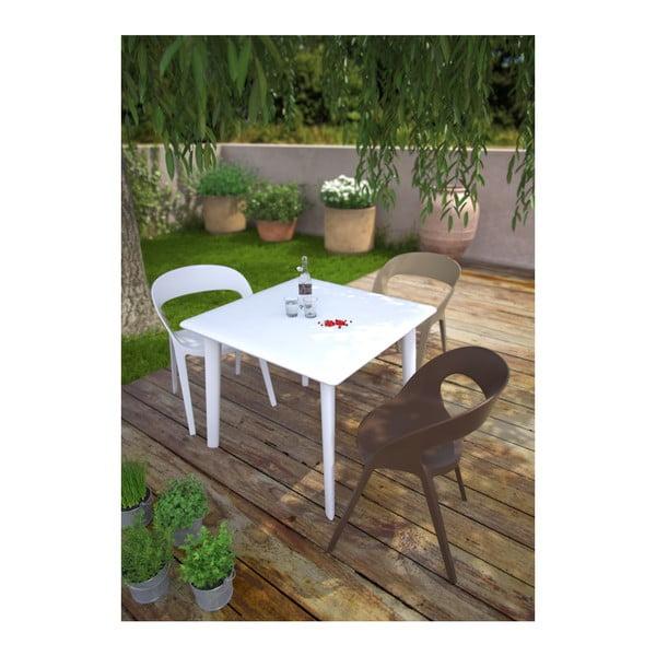 Zestaw 2 beżowych krzeseł ogrodowych Resol carla