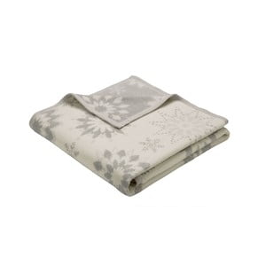 Koc Winterblumen silber, 150 x 200 cm