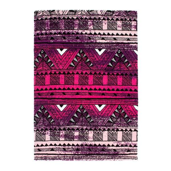 Dywan Aztec 491 fioletowy/fuksja, 120x170 cm