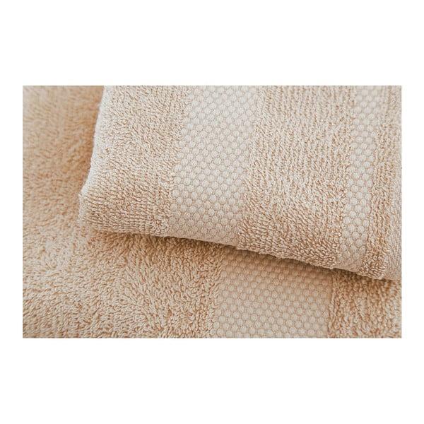 Zestaw 2 beżowych ręczników Clio