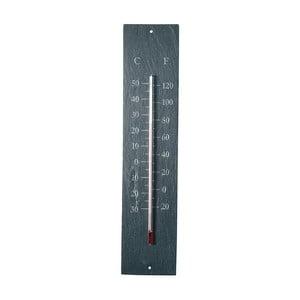 Wiszący zewnętrzny termometr z łupku EsschertDesign Recta