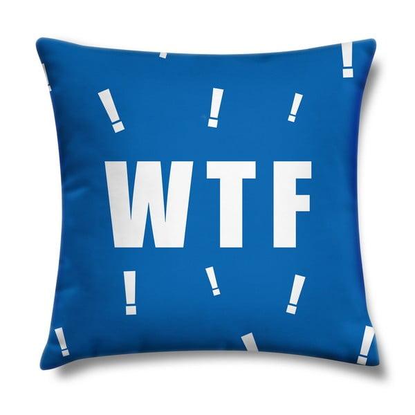 Poduszka WTF Blue, 43x43 cm