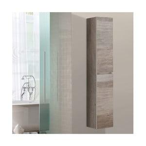 Szafka wisząca do łazienki  Column, motyw dębu
