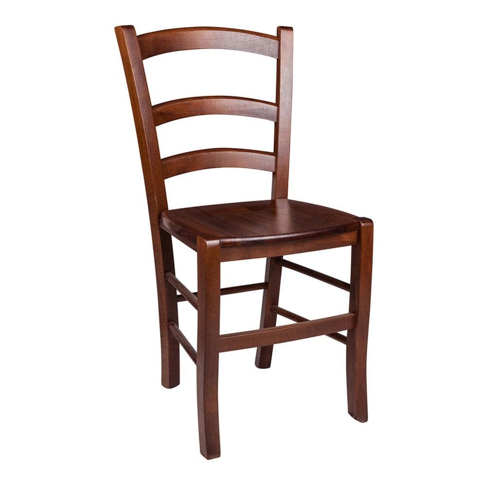 Brązowe drewniane krzesło Evergreen House Faux