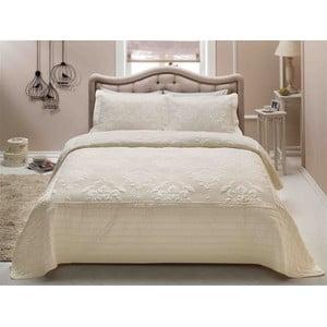 Lekka narzuta pikowana na łóżko dwuosobowe z 2 poszewkami na poduszki French Mood, 250x260 cm
