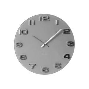 Szary zegar Present Time Vintage Glass