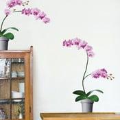 Naklejka na ścianę Różowe orchidee