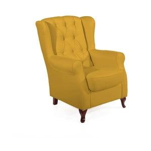 Żółty fotel Max Winzer Lex