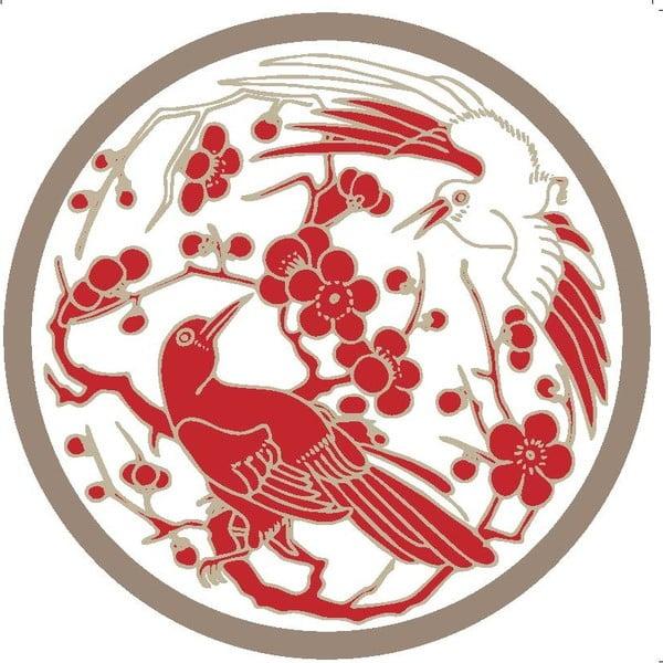 Zestaw 2 mat stołowych Red Birds