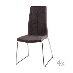 Zestaw 4 ciemnoszarych krzeseł sømcasa Aora