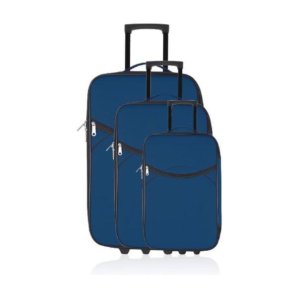 Zestaw 3 walizek podróżnych Classic Blue