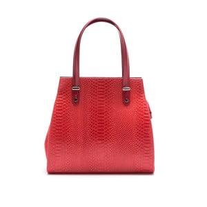 Skórzana torebka Luisa Vannini 8028, czerwona