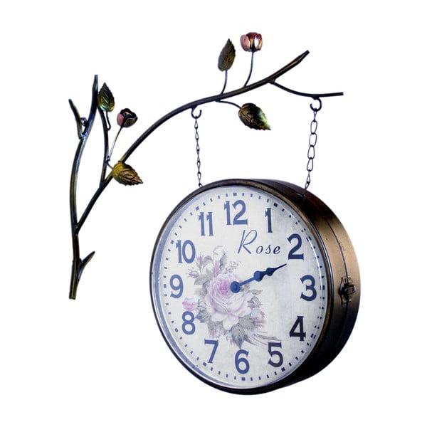 Dwustronny zegar wiszący Clock Station