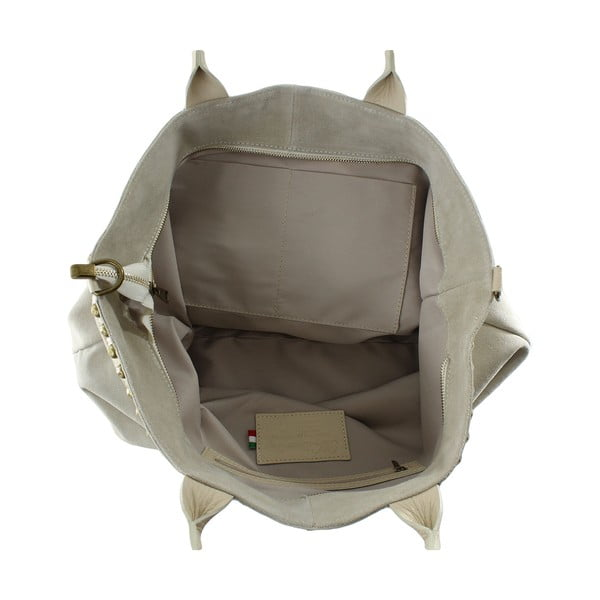Skórzana torebka Skull, taupe